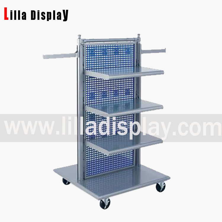 metal portable display shelves