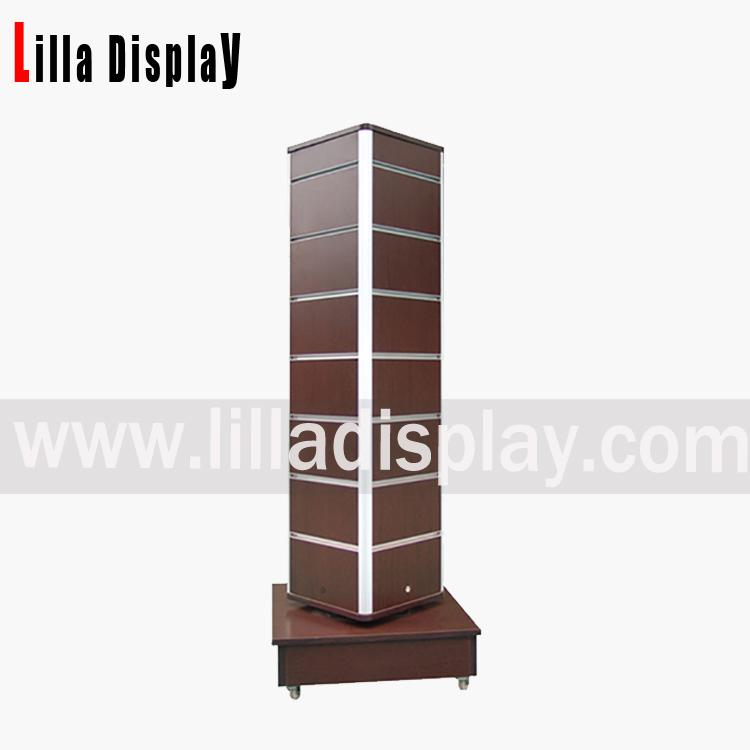 4 sides wheel base portable slatwall gondola tower