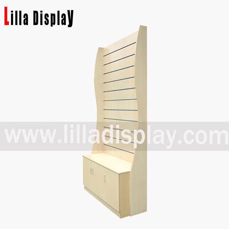 Lilladisplay- maple color L style slatwall display store use fixture B-1037
