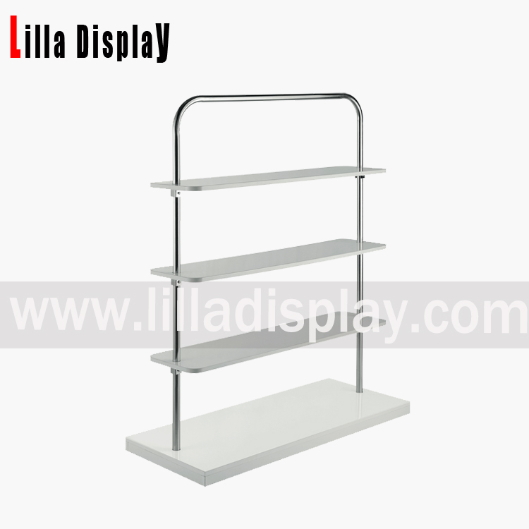 rektangel træ display rack