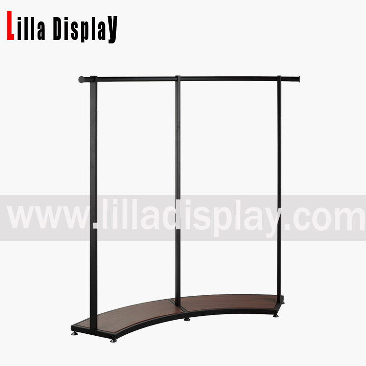 Lilladisplay-new design fashion clothing use portable display rack with wheels BH-4