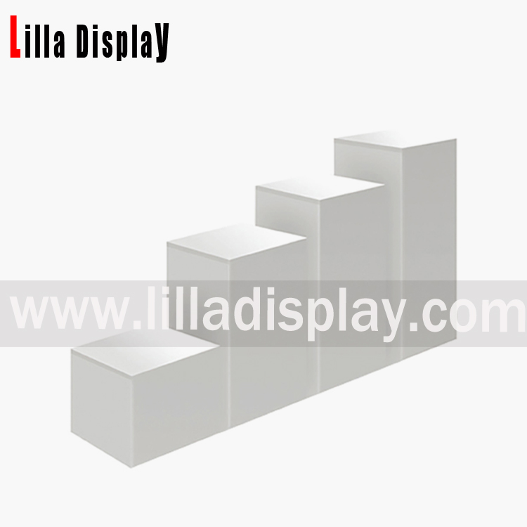 display cubes white