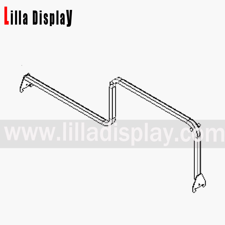 Lilladisplay combination rail for slotted uprights 1000mm (32mm Pitch) 19403