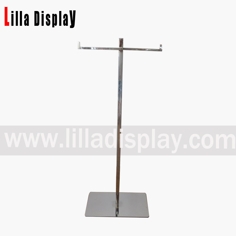 Lilladisplay- stainless steel T style display rack for bags store use fixture DP3042