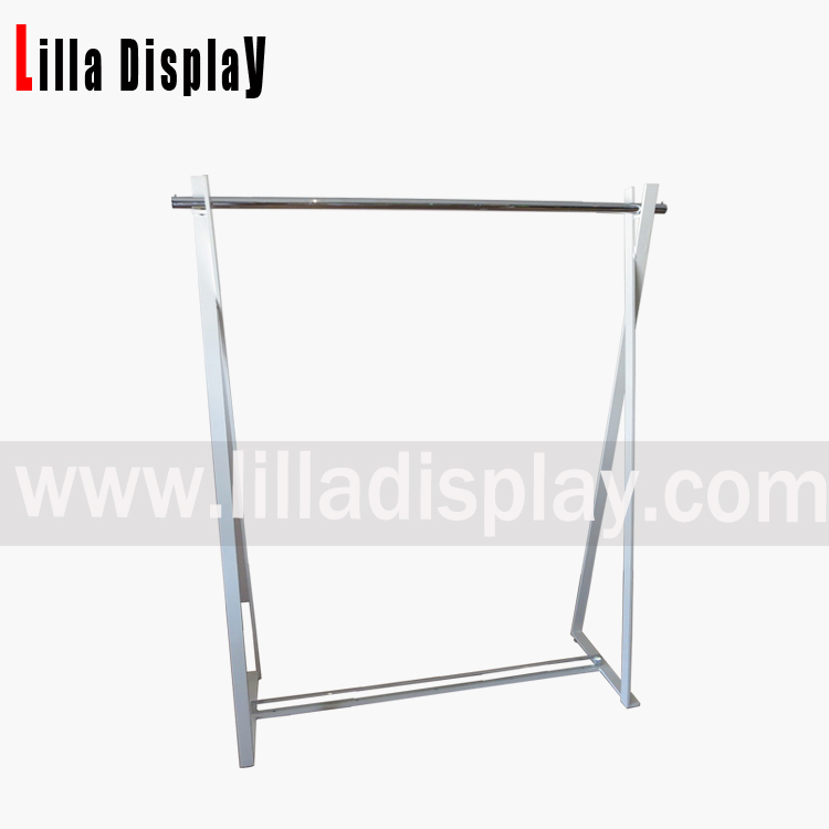 Lilladisplay- clothing display use display rack with whtie powder coated frame DP4002
