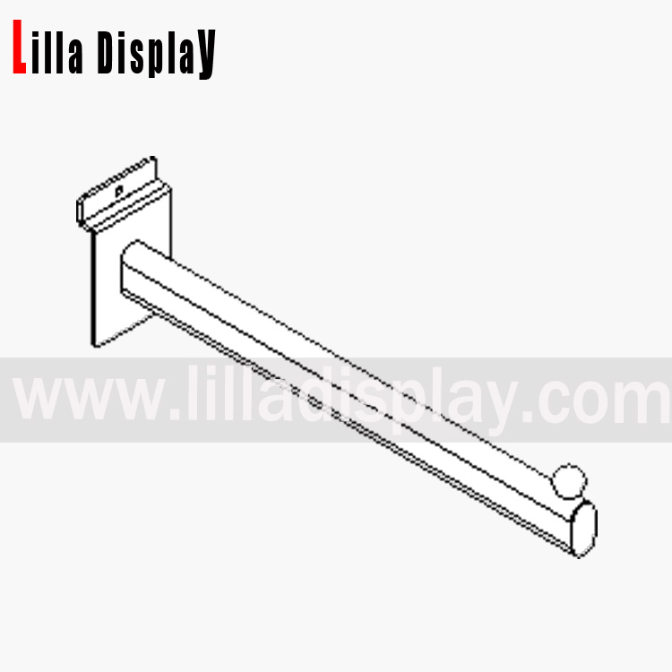 forward arm for slatwall 300mm chrome