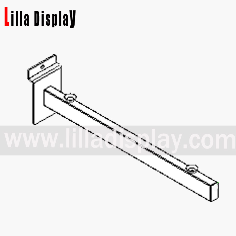 glass shelf bracket tubular 300mm chrome slat