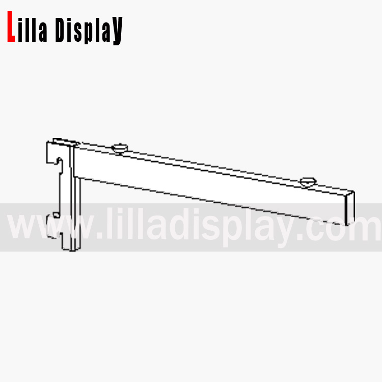 Lilladisplay glass shelf brackets to fit channel 300mm 28519