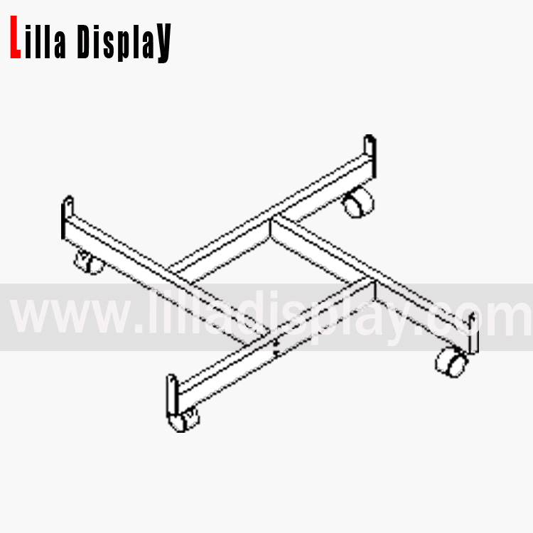 Lilladisplay gridwall four way base chrome 22407