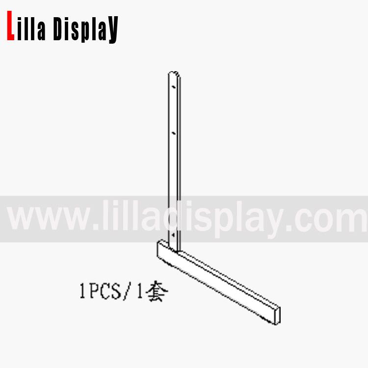 Lilladisplay gridwall L legs (1Pair) chrome 22443