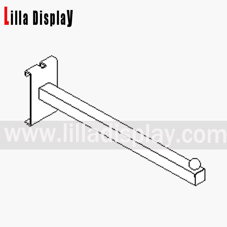 Gridwall Straight Arm 300mm Chrome