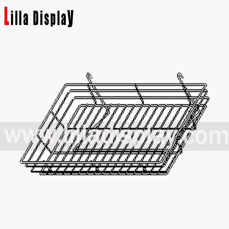 Lilladisplay gridwall wire basket 600 x 300mm chrome 22433