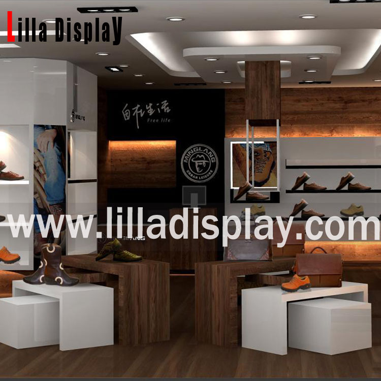 Lilladisplay shoes store retail fixtures design Lilla-shoes store S01