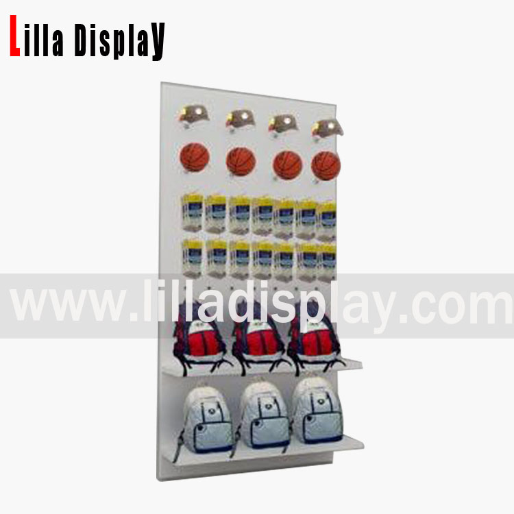 Lilladisplay retail bags shop use slatwall board display design B01