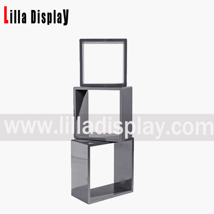 Lilladisplay-Retail store standing square MDF shelf cubes display DC002CW