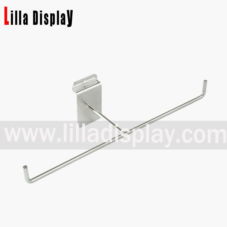Lilladisplay Slatwall Bangle Bar 300mm Chrome 10068