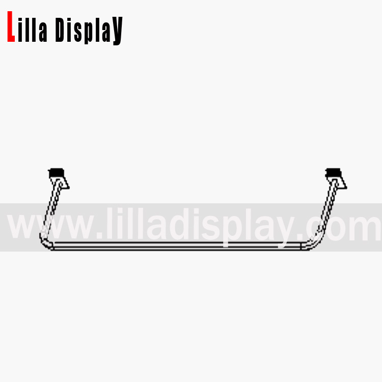 Lilladisplay slatwall D-Rail 600mm Chrome 10106