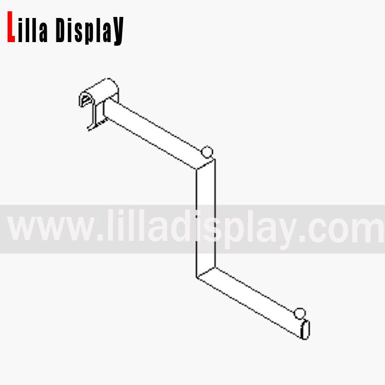 Lilladisplay stepped arm 330mm – oval saddle chrome 19105