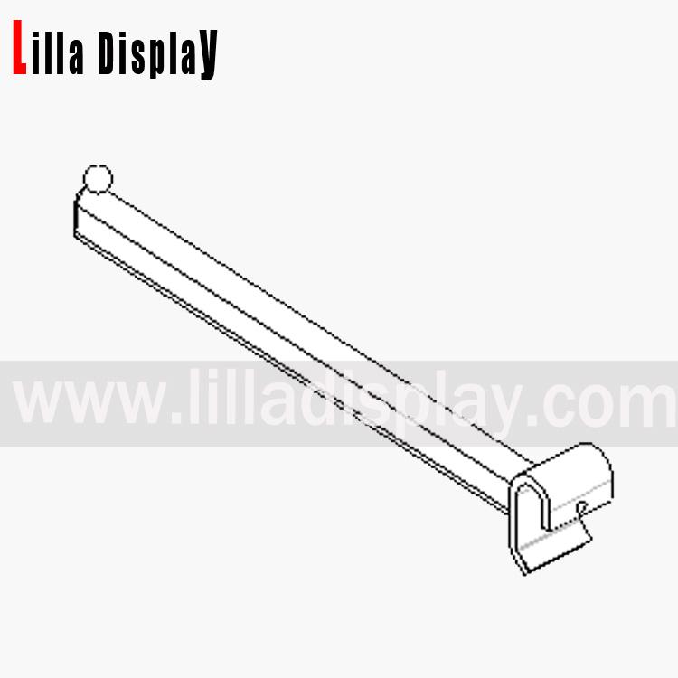 Lilladisplay straight arm 300mm – oval saddle chrome 19421