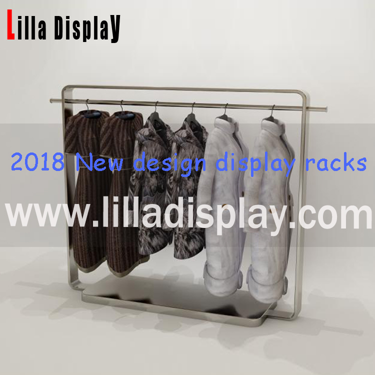 Lilladisplay-Heavy duty stainless steel metal display racks for clothes stores DR005MG