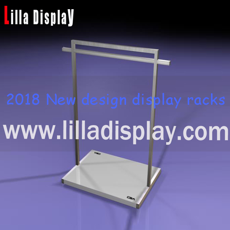 Lilladisplay-2018 new design Retail store use stainless steel metal display racks for clothes store DR008MW