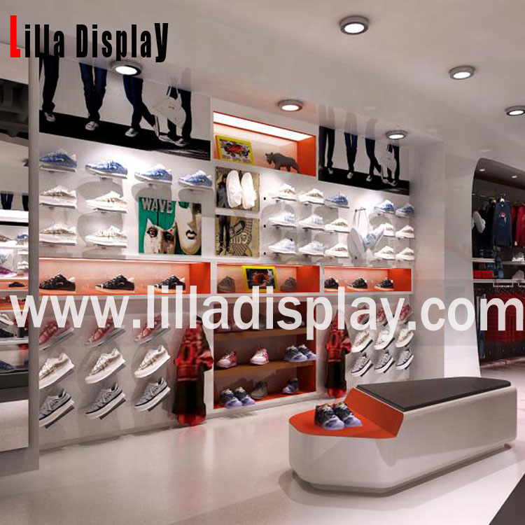 shoes store use wall display units deisgn