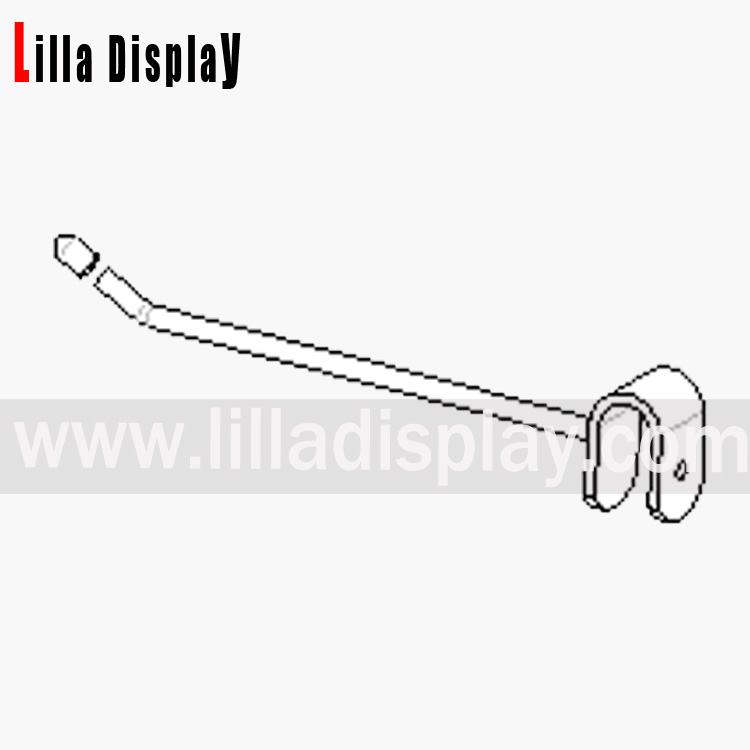 single prong hook for back bar 150mm - овално седло хром