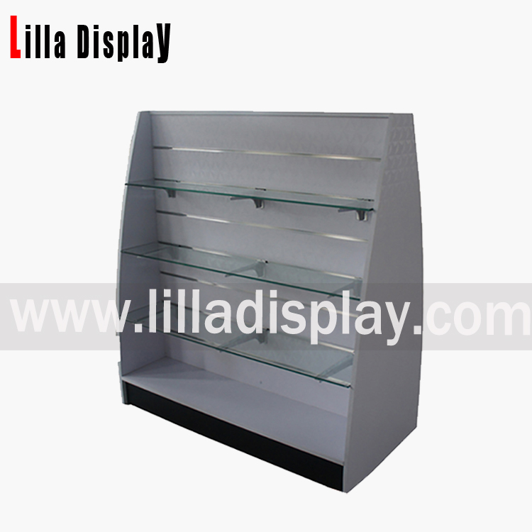 Lilladisplay-MDF display cabinet with glass mesa Item code: B1026