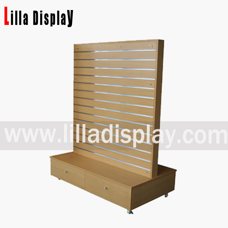 MDF slat panel wall display