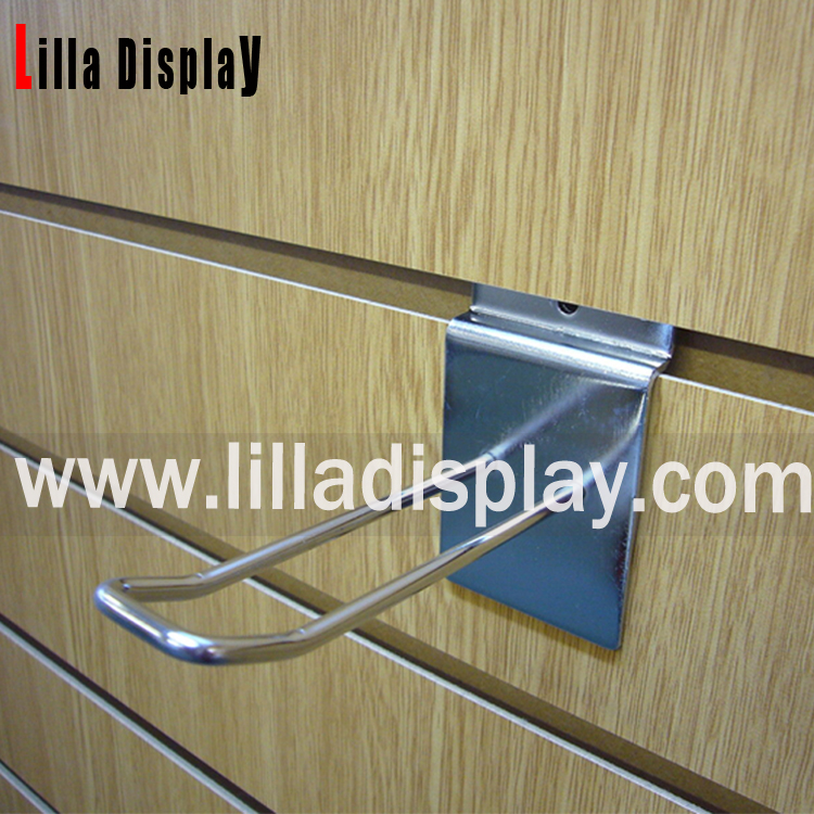 Lilladisplay slatwall euro arm 150mm (6″) chrome 10084