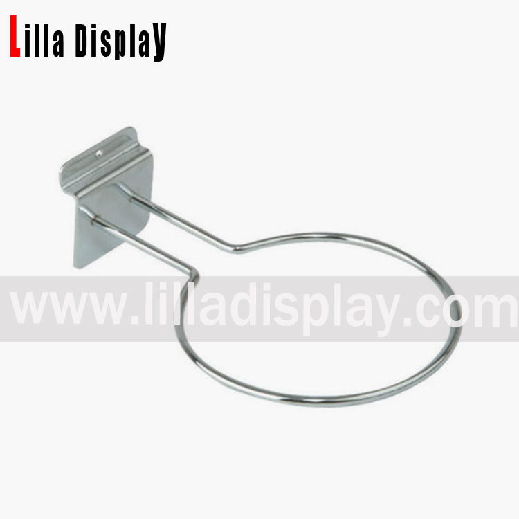 Lilladisplay slatwall football display ring chrome 10095