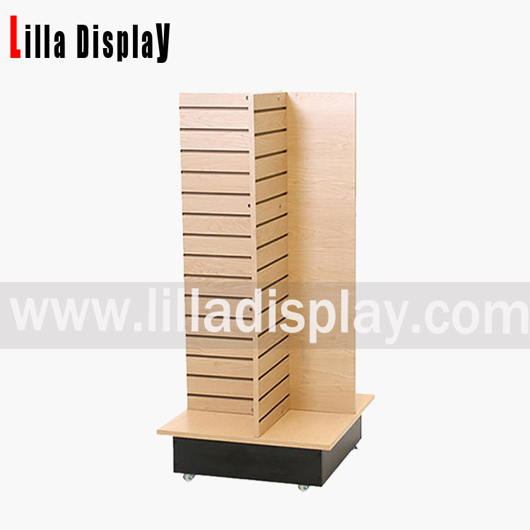 LIlladisplay-slatwall freestanding display stand apparel rack tower B1013