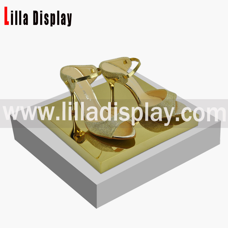 Lilladisplay- Retail Shoes store display stand shop fittings with MDF+Acrylic material SDR06S