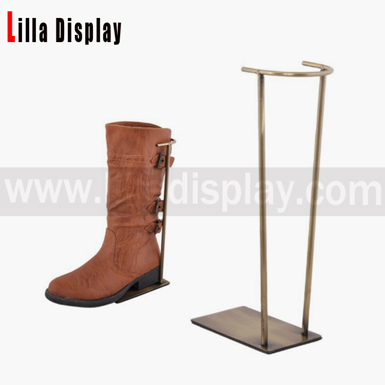 Lilladisplay- Retail shoes store Boots display stand with half round opening holder back SDR09S