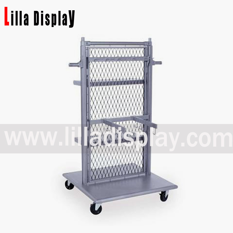 Lilladisplay- hot selling portable metal garment shop display rack/metal shelves for shop DS1002M