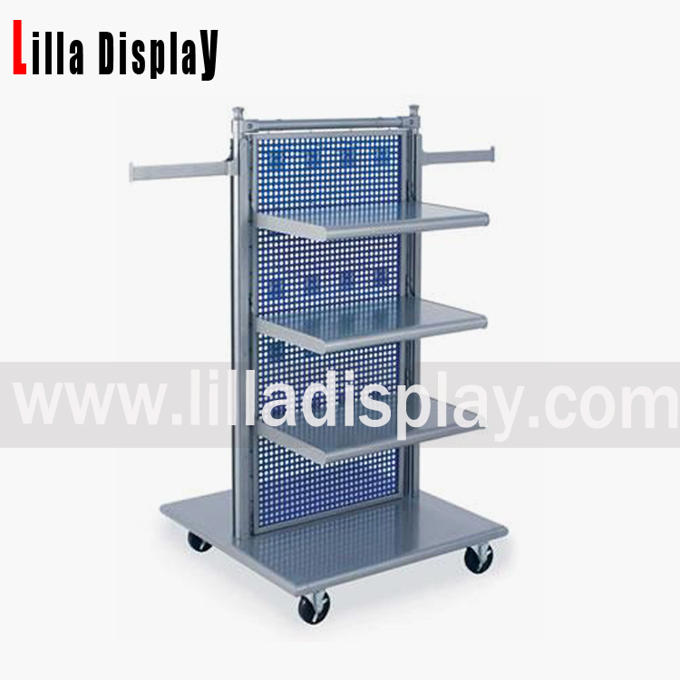 Lilladisplay- metal hanging portable clothing store display stand racks shelves DS1007M