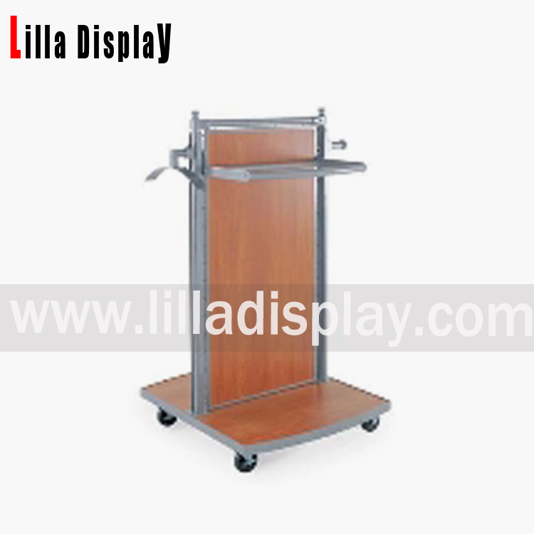 Lilladisplay- Metal and wooden retail clothing store shop fitting display racks shelves DS1003M