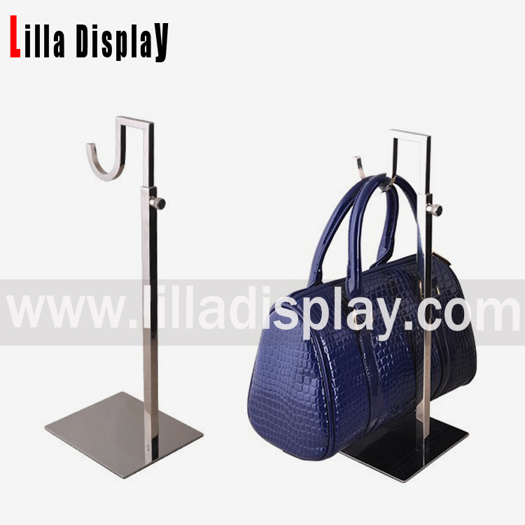 Lilladisplay- adjustable chrome handbag display stand BDR10