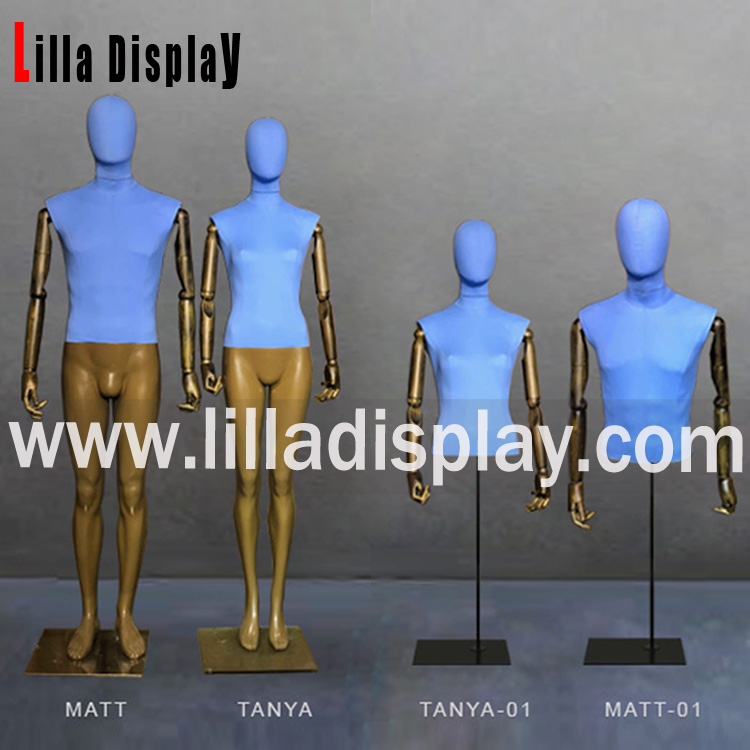 Lilladisplay-2018 new design fabric dress mannequin forms collection Matt&Tanya