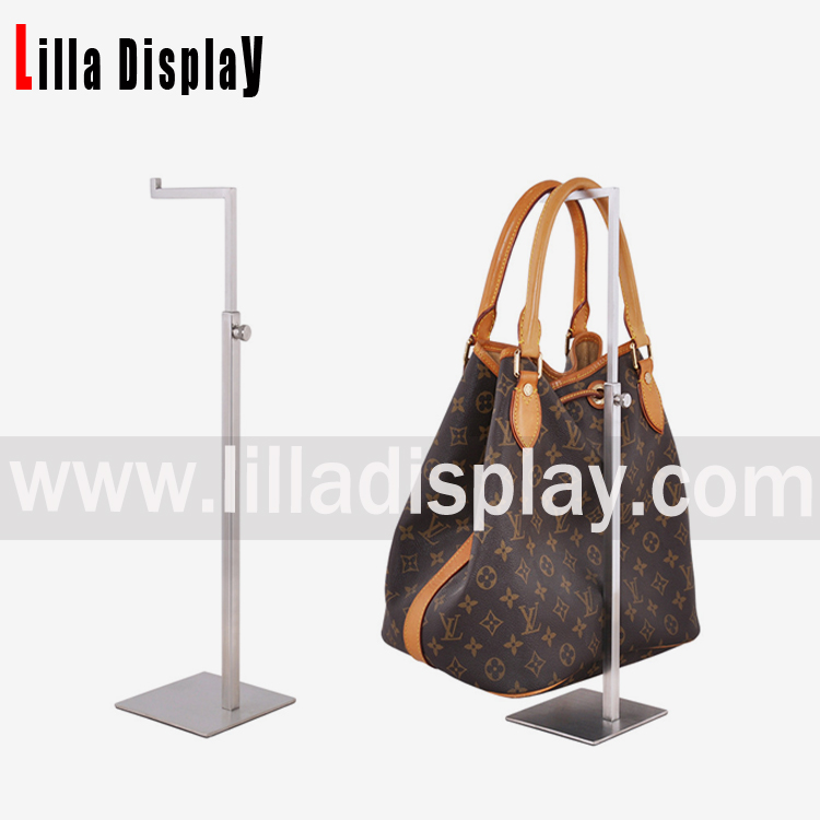 Lilladisplay- Metal adjustable height bag rack for retail store BDR03