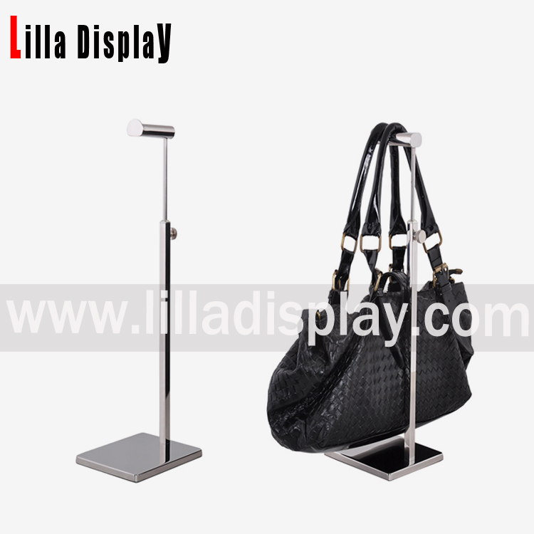 Lilladisplay- good quality stainless steel bag display rack for shops BDR04