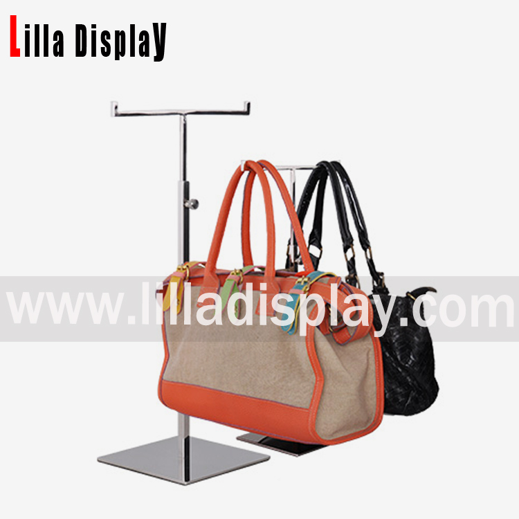 Lilladisplay-Double sides T shape bag display stand BDR07