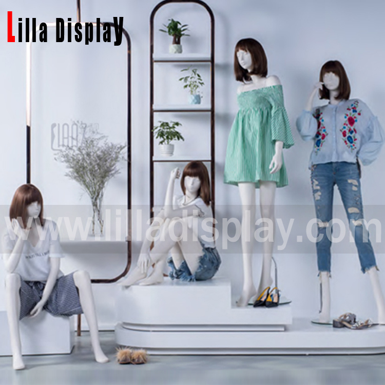 Lilladisplay-Retail store use high fashion luxury female abstract head mannequin collection-Alessia