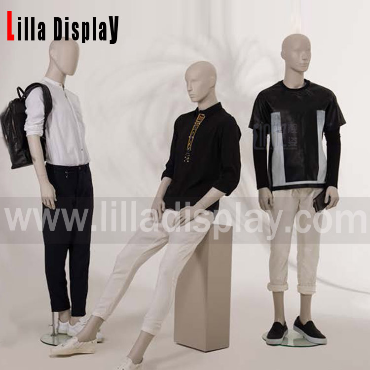 Lilladisplay-Retail store use high fashion luxury male abstract head mannequin collection-Bieber