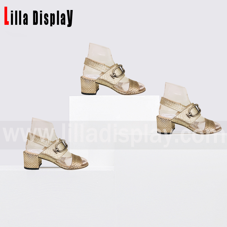 Lilladisplay-Shoes store use crystal shoes display stand for 4cm-6cm heels height pumps shoes, wedges,high heels display use AF-4