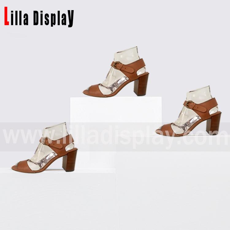 Lilladisplay-transparent shoe display stand form for 7cm-9cm heel height AF-2