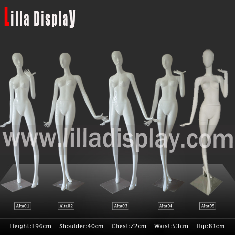 Lilladisplay-196cm white glossy female stylized abstract mannequins Alta