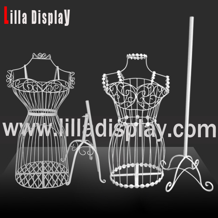 Lilladisplay- Female Wire white color wedding dress mannequin forms