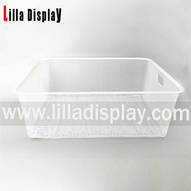 Lilladisplay-Slatwall Display Shelf Wire Basket 22500
