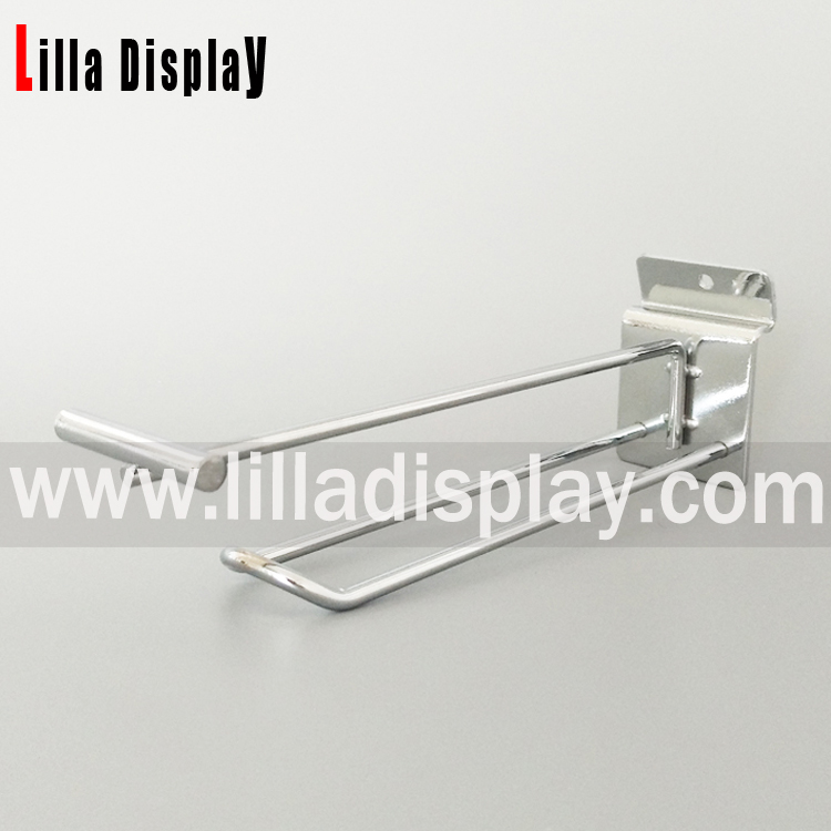 Lilladisplay-Supermarket display shelf metal hanging hook with transparent plastic price tag 22450